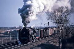 Departing Datong (Bingley Hall) Tags: rail railway railroad transport train transportation trainspotting locomotive engine freight steam asia china datong qj 2102 kodachrome