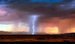 Lightening In The Desert (jarr1520) Tags: sky lightening arizona weather usa chandler city rain clouds dramatic