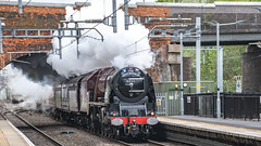 6233, Twyford, 27 April 2019 (7) (BaggieWeave) Tags: lms princesscoronation duchessofsutherland 6233 steamengine steamlocomotive steam steamtrain twyford berkshire gwml 462 pacific uk reading unitedkingdom england