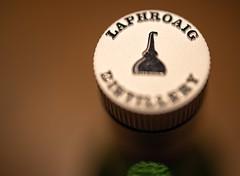 Single Malt (Peter Branger) Tags: macro macromondays bottle cork bottlecap laphroaig whisky