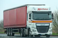 DAF XF Matthews DK67 VDJ (SR Photos Torksey) Tags: transport truck lorry lgv logistics haulage hgv road commercial vehicle freight traffic daf xf matthews