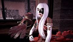 Athena and Her Owl (Sammi Capalini) Tags: contraptionowl truthhair wiccamask letreskin powderpack maitreya catwa moonamoremechanicaldressrare
