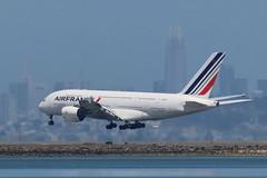 Air France A380 at SFO (photo101) Tags: airbus a380