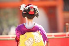 Hair style (Teruhide Tomori) Tags: kyoto japon japan heianjingushrine maiko performance tradition festival kimono stage 舞妓 京都 伝統 日本 着物 舞台 lady 踊り dance portrait event 平安神宮 happyplanet asiafavorites