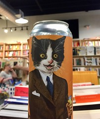 Business Oliver (Mr.TinDC) Tags: beer can cat cats tuxedocat oliver cute label