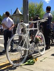 Ghost Bike for Dave (Mr.TinDC) Tags: dc washingtondc bike bicycle ghostbike bikedc dave memorial cycling biking rip friends