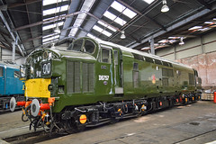 D6757, Barrow Hill (JH Stokes) Tags: d6757 37057 class37 brgreen preservation preservedlocomotives diesellocomotives barrowhillroundhouse barrowhill staveley chesterfield trains trainspotting tracks transport railways railroads photography