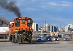 Railroad Street (Missabe Road) Tags: gn bnsf 3429 3704 railroadstreet sw1500 mp15