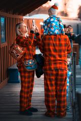 Pajama Party (Yaecker Photography) Tags: polarexpress railtown pajamas pajama family selfie calop vivid vividcolor holiday