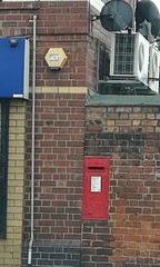 GR wall box (daveandlyn1) Tags: wall redbox postbox alarms airconditioning downpipe shades pralx1 p8lite2017 smartphones psdigitalcamera cameraphone huawei