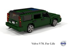Volvo V70 T5 Estate (1997) (lego911) Tags: volvo v70 1997 t5 estate wagon sweden swedish 1990s auto car moc model miniland lego lego911 ldd render cad povray afol turbo family safety