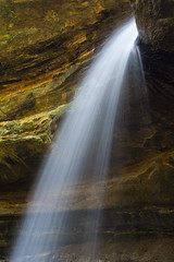 Like light pouring out from the rock (GmanViz) Tags: gmanviz color waterfall water rocks cedarfalls hockinghills ohio sony a6000 longexposure