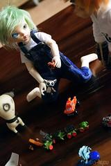 Playing (Amberkyou) Tags: bjd abjd ball jointed doll 5star 5stardoll 2014 halloween faceplate fairyland body nyx rum asian chateau faramita dc dog demon toys miniature