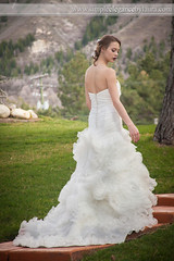 Slowly Walking Up the Steps (Laura K Bellamy) Tags: wedding weddings bride bridal bridals portraits