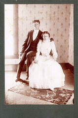 Vintage Photo (neshachan) Tags: instantancestor instantrelatives oldphotograph oldphoto couple wedding victorian