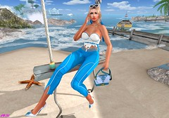 Silence Speaks When Words Can´t (alexandra sunny) Tags: adorsy mybagsbymila catwa maitreya truth aviglam beach silence blog secondlife blogger fashion hair blue