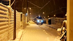 3229 and 3230 arrive at Bourg Saint Moritz after working the ski train from London. (Matt's photostream) Tags: bourg saintmoritz eurostar mievie tmst train high speed 373229 373230 tgv railway sncf