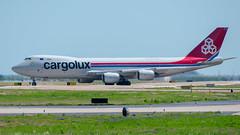"""LX-VCN """"Spirit of Schengen"""" Boeing 747-8F Cargolux (SamCom) Tags: dfw kdfw lxvcn spiritofschengen boeing 7478f cargolux b748"""
