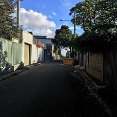 Light and shadow play on lanes in Glebe, Sydney - #lightandshadowplayonlanes #light #shadow #lane #Sydney #Glebe #urbanstreet #urbanfragments #urbanandstreet #streetphotography #clouds #trees #dumpster (TenguTech) Tags: ifttt instagram lightandshadowplayonlanes light shadow lane sydney glebe urbanstreet urbanfragments urbanandstreet streetphotography trees dumpster clouds