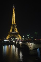 Eiffel Tower (joyhhs) Tags: paris france eiffeltower architecture canon december 2016 night reflection lens flare on1 photography
