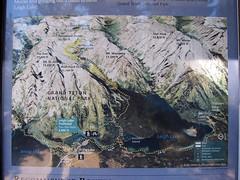 String Lake Trail (pr0digie) Tags: grandteton nationalpark hike hiking trail stringlake leighlake lake mountain mountains information sign map