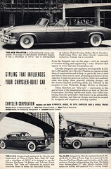1953 Chrysler Cororation Prototypes Phanton 4 Door Convertible K310 Coupe 200 Convertible USA Original Magazine Advertisement (Darren Marlow) Tags: 1 3 5 9 19 53 1953 c chrysler corporation prototypes p phanton k310 coupe 200 convertible car cool collectible collectors classic a automobile v vehicle u s usa united states american america 50s