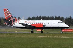G-LGND Saab 340 EGPH 21-04-19 (MarkP51) Tags: glgnd saab 340b loganair lm log edinburgh airport edi egph scotland aviation airliner aircraft airplane plane image markp51 sunshine sunny planeporn nikon d500 nikon70200f4vr