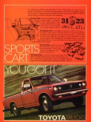 1978 Toyota SR-5 Long Bed Sports Truck USA Original Magazine Advertisement (Darren Marlow) Tags: 1 5 7 8 9 19 78 1978 t toyota s r sr sr5 sports truck l long b bed c car cool collectible collectors classic a automobile v vehicle j jap japan japanese asian asia 70s