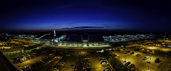Raleigh–Durham International Airport (mph1966) Tags: canon7d canon1740l canon1740 7d 1740 1740l 17mm f8 pano panorama sunset sky night twilight color colorful colors beauty beautiful airport airplane airplanes flight travel raleigh nc durham rdu northcarolina