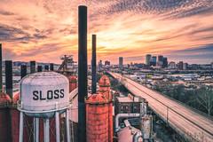 (David Youngblood) Tags: downtown watertower sunsetpic magiccity ironcity al alabama birmingham bham slossfurnaces sloss aerial mavic2pro dji dronephotography