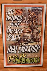 Pas Op Springboks Recruitment Poster (Bri_J) Tags: imperialwarmuseum london uk museum warmuseum militarymuseum iwm nikon d7500 pasopspringboks recruitmentposter poster wwi southafrica britishempire governmentprintingworks
