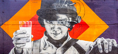 Alex by Zabou (Suggsy69) Tags: nikon d7200 graffiti art streetart zabou alex clockworkorange shoreditch eastlondon london mural large milk glass film movie hat bowlerhat character