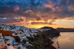 _MG_9636 - Oia sunrise (AlexDROP) Tags: 2017 europe greece santorini oia greek sea travel color city urban cityscape sunrise morning clouds skyline canon6d ef241054lis best iconic famous mustsee picturesque postcard