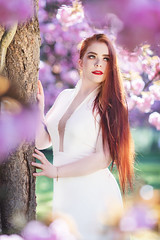Anne-Sophie (Foto Spirit) Tags: shooting model woman femme glamour beautiful mode blossom white dress redhair