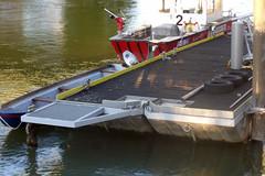 ALONG THE DANUBE CANAL IN VIENNA (artofthemystic) Tags: austria danubecanal vienna urbanart graffiti boat firedepartment