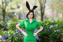 Easter Parade (edwicks_toybox) Tags: 16scale tbleague bunnyears dress easter femaleactionfigure highheels phicen raksa seamlessbody stockings tencent verycool