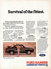 1985 Ford Ranger V6 4WD Pickup Truck Page 1 USA Original Magazine Advertisement (Darren Marlow) Tags: