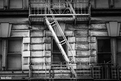 Safety Ladders (Deniz Kilicci) Tags: historical old sanfrancisco sfo streetphotography structure building blackandwhite bw a6500 sony