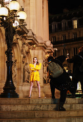 Fashion shoot (graveur8x) Tags: paris france beauty fashion shoot street streetphotography beautiful candid opera europe old buildings culture photographer model dress colours night dark lights stairs portrait work city urban sony sonya7iii sonyilce7m3 sonyfe85mmf18 85mm