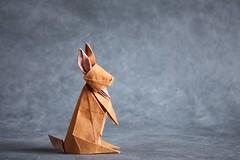 Rabbit - Hideo Komatsu (pierreyvesgallard) Tags: origami rabbit hideo komatsu hare bunny animal paper papercraft folding