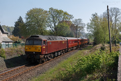 47826 2Z08 @ Kendal 21/04/2019 (North West Rail Scene) Tags: 47 westcoast wcrc class47 windermere oxenholme kendal loco locohauled 2z08 47826 47851 diesel train