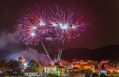Happy Easter (Vagelis Pikoulas) Tags: greece village villagescape vilia landscape night nightscape fireworks canon 6d tokina 2470mm view april spring 2019