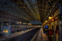 Last Train to London (Kev Walker ¦ Thank You 4 Comments n Faves) Tags: architecture building city england manchester panorama panoramic sky town transport water background bridge britain british business canal castlefield center central centre circle cityscape commercial design district downtown dusk europe european great illuminated kingdom landmark light metro metropolitan modern movement night overground piccadilly places public quays railway reflection sign skyline skyscraper speed square station tourism tower trackquayside traffic train transportation travel twilight uk united urban view yellow