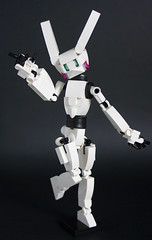 MIHIBOT, the mecha bunny (Loysnuva) Tags: lego moc mech mecha monday loli bunny easter idol system cute kawaii anime figure mihibot robot girl bionifigs loysnuva drossel fembot toy white pink blue rabbit