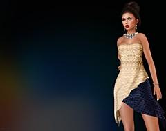 Elegance (kare Karas) Tags: woman lady femme girl girly sweet cute beauty elegance sensual seduce virtual avatar mesh bento dress jewelry event colors hud designers ghee senseevent moondanceboutique