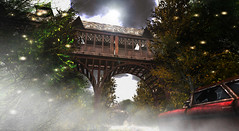 #CandleWoodContest2019 - Lena Kiopak (Lena Kiopak) Tags: candlewoodcontest2019 bridge old car broken glass smoke