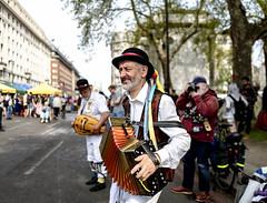 Rebel Morris Dancer Accordionist, (Bryan Appleyard) Tags: extinction rebellion accordion dancers morris marble arch demo demonstration