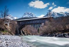 Wooden Bridge (schofz) Tags: scuol schweiz switzerland engadin graubünden bridge brücke langzeitbelichtung