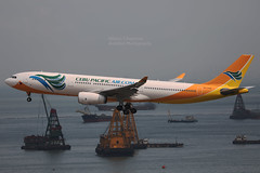"Airbus, A330-343, RP-C3345, ""Cebu Pacific"", VHHH, Hong Kong (Daryl Chapman Photography) Tags: rpc3345 airbus a330 a333 a330343 5j ceb landing arrival hkia clk cheklapkok hongkonginternationalairport aviation aviationphotography plane planespotting canon 5d mkiv 100400l 5j110 1552"