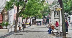 Lisboa leisurely (albyn.davis) Tags: lisbon portugal park europe square trees colors green travel people street church city urban